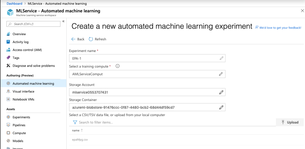 AutoML – Azure Machine Learning Services, First Look | Shep Sheppard